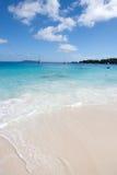 在Praslin塞舌尔群岛的著名Anse拉齐奥海滩 库存照片