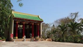 在Pratumnak小山,芭达亚,泰国的佛教寺庙 股票录像
