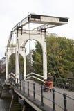在prinseneiland的吊桥在阿姆斯特丹 免版税库存图片