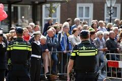 在Prinsjesdag的警察 库存照片