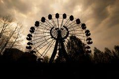 在Pripyat弗累斯大转轮游乐园 库存照片