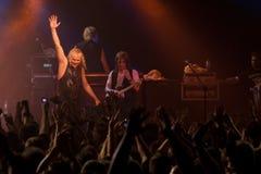 在Progresja华沙波兰俱乐部的URIAH HEEP音乐会2008年11月5日 免版税库存照片