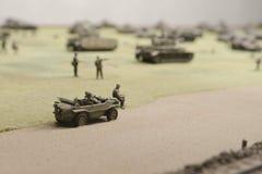 在Prokhorovka附近的德国军车 免版税库存照片