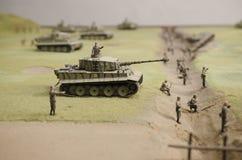在Prokhorovka附近的德国坦克 免版税库存图片