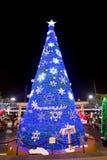 在Promanade百货商店的圣诞节装饰 图库摄影
