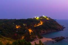 在Promthep海角的日落 Promthep海角是最普遍的观点在普吉岛 库存照片