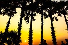 在Promthep海角的日落 Promthep海角是最普遍的观点在普吉岛 免版税库存图片