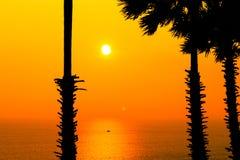 在Promthep海角的日落 Promthep海角是最普遍的观点在普吉岛 图库摄影