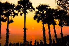 在Promthep海角的日落 Promthep海角是最普遍的观点在普吉岛 库存图片