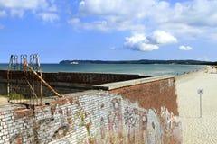 在Prora,鲁根岛海岛的法西斯主义的建筑学 库存照片