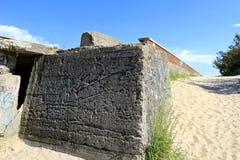 在Prora,鲁根岛海岛的法西斯主义的建筑学 免版税图库摄影