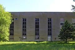 在Prora,鲁根岛海岛的法西斯主义的建筑学 免版税库存照片