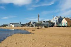 在Provincetown,鳕鱼角,马萨诸塞的海滩 库存照片