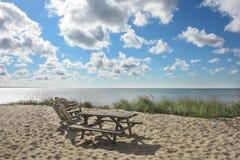 在Provincetown, MA的鳕鱼角海滩 免版税库存图片