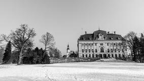 在Pszczyna的城堡 免版税库存照片