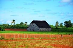 在Puerto埃斯波兰萨种田房子,古巴 图库摄影
