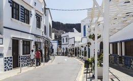 在Puerto de在大加那利岛的las Nieves的背街, 库存图片