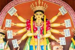 在Puja Pandal,杜尔加Puja节日的Konyashree -杜尔加神象 免版税库存图片
