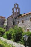在Punta, Budva, Montenegro的圣塔玛丽亚 免版税库存图片