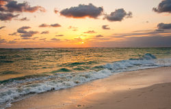 在Punta Cana,多米尼加共和国的日出 免版税库存图片