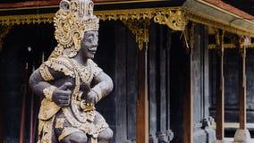在Pura Besakih寺庙的雕象在巴厘岛,印度尼西亚 免版税库存照片