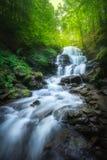 在Pylypets河,乌克兰的瀑布Shypit 免版税图库摄影