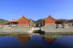 在Q的东部皇家坟茔的中国古老建筑学 免版税库存照片