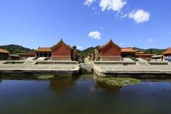 在Q的东部皇家坟茔的中国古老建筑学 库存照片