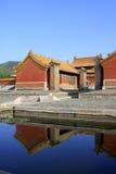 在Q的东部皇家坟茔的中国古老建筑学 库存图片
