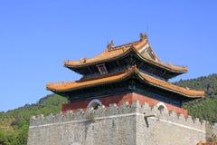 在Q的东部皇家坟茔的中国古老建筑学 免版税库存图片
