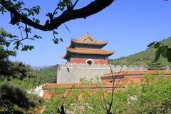在Q的东部皇家坟茔的中国古老建筑学 图库摄影