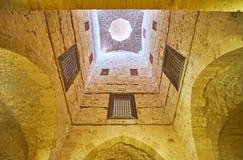 在Qaitbay清真寺,亚历山大,埃及 免版税库存图片