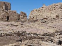 在Qasr Dusch的废墟 免版税库存照片