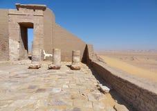 在Qasr Dusch的废墟 图库摄影