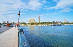 在Qasr El零桥梁上,开罗,埃及 免版税库存照片