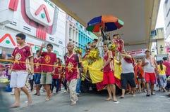 在Quiapo区的黑基督教徒节日 免版税库存图片