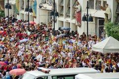 在Quiapo区的黑基督教徒节日 库存图片