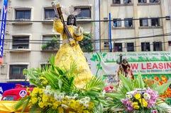 在Quiapo区的黑基督教徒节日 免版税库存照片