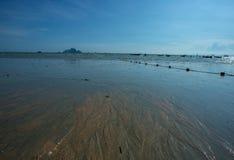 在Railay海滩的美好的风景视图在Krabi泰国 库存图片