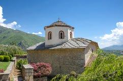 在Rajcica阻止,马其顿-圣乔治战胜修道院 图库摄影