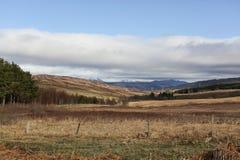 在Rannoch的一个冬天风景视图停泊 苏格兰英国 免版税库存照片