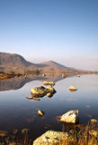 在Rannoch的镇静水停泊 免版税库存照片