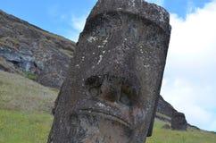 在Rano Raraku火山的Moais, Rapa Nui复活节岛 库存图片