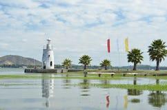 在Rapel湖智利的灯塔 免版税库存图片