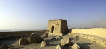在Ras Al Khaimah阿拉伯人酋长管辖区的阿拉伯堡垒 免版税库存照片
