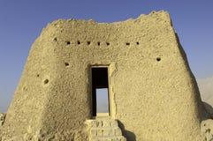 在Ras Al Khaimah阿拉伯人酋长管辖区的阿拉伯堡垒 免版税库存图片