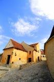 在rasnov罗马尼亚里面的堡垒 库存照片