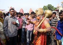 在Ratha Yatra的Hanumanji 免版税图库摄影