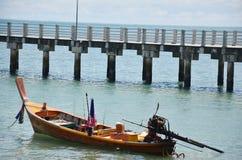 在Rawai海滩的渔船普吉岛泰国 图库摄影