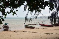 在Rawai海滩的渔船普吉岛泰国 免版税图库摄影